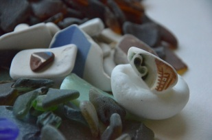 Bits and pieces from the sea - sea glass, pottery