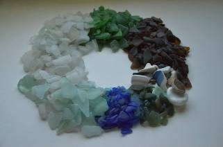 A sample of glass collected in NL, summer 2013